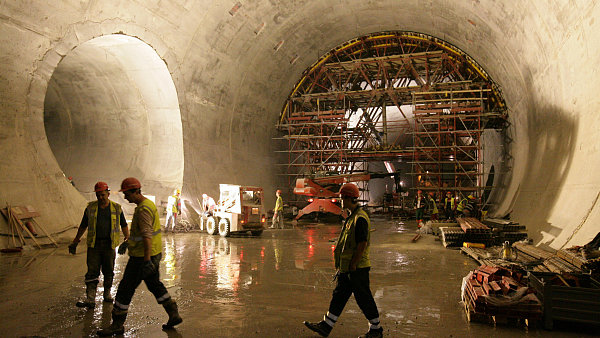 Stavba tunelu Blanka v Praze (ilustrační foto)