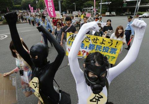 Protesty proti jaderným elektrárnám v Japonsku