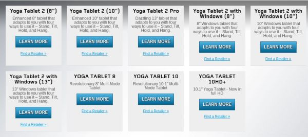 lenovo yoga tablet web