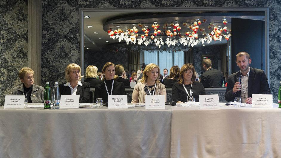 Na konferenci v centru Prahy spolu diskutovaly ženy z byznysu