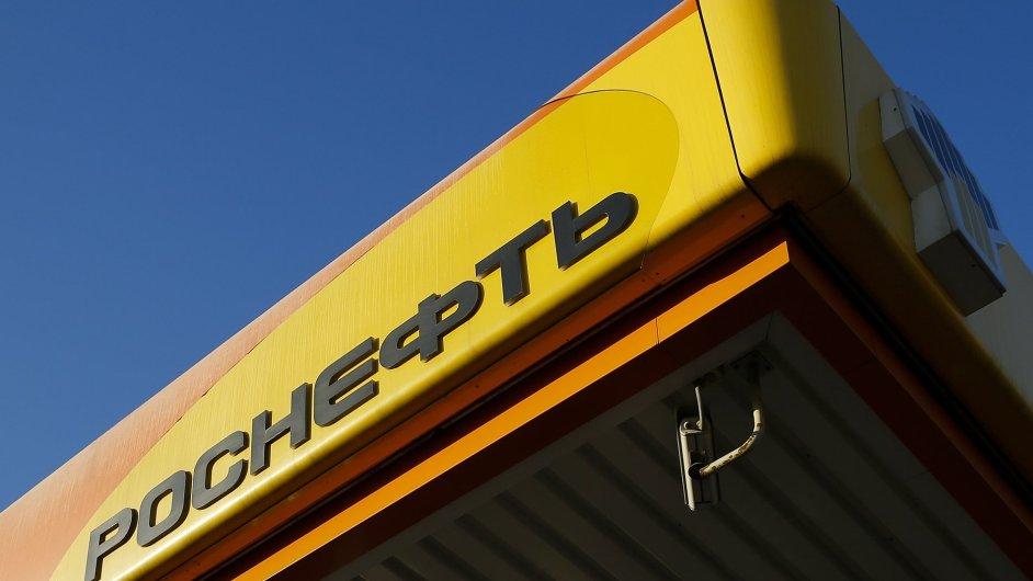 Logo ruského ropného kolosu Rosněfť.