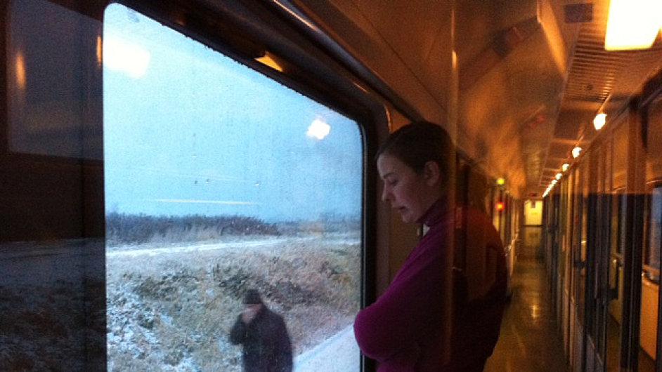 Zamrzlý vlak u Hranic na Moravě