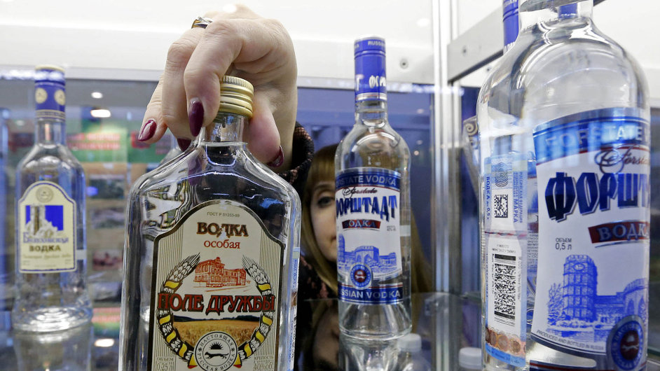 Ruská vodka, ilustrační foto