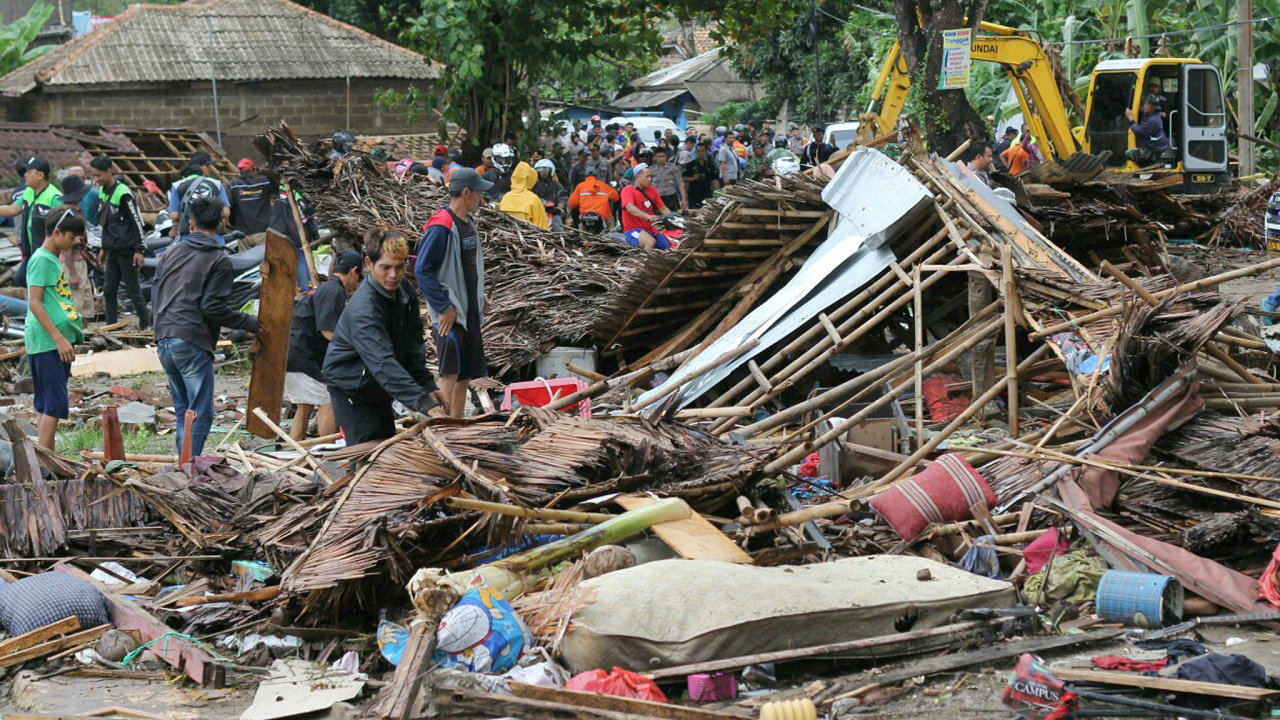 Tsunami, Indonésie