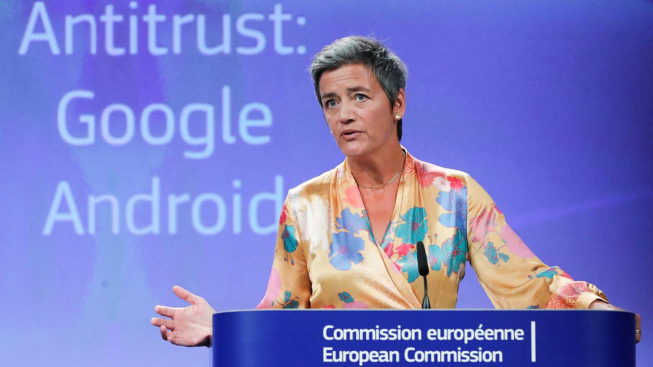 Evropská komisařka pro ochranu hospodářské soutěže Margrethe Vestagerová.