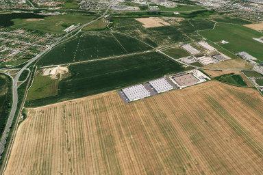 Umístění nového logistického parku Panattoni Košice Airport u košického letiště.