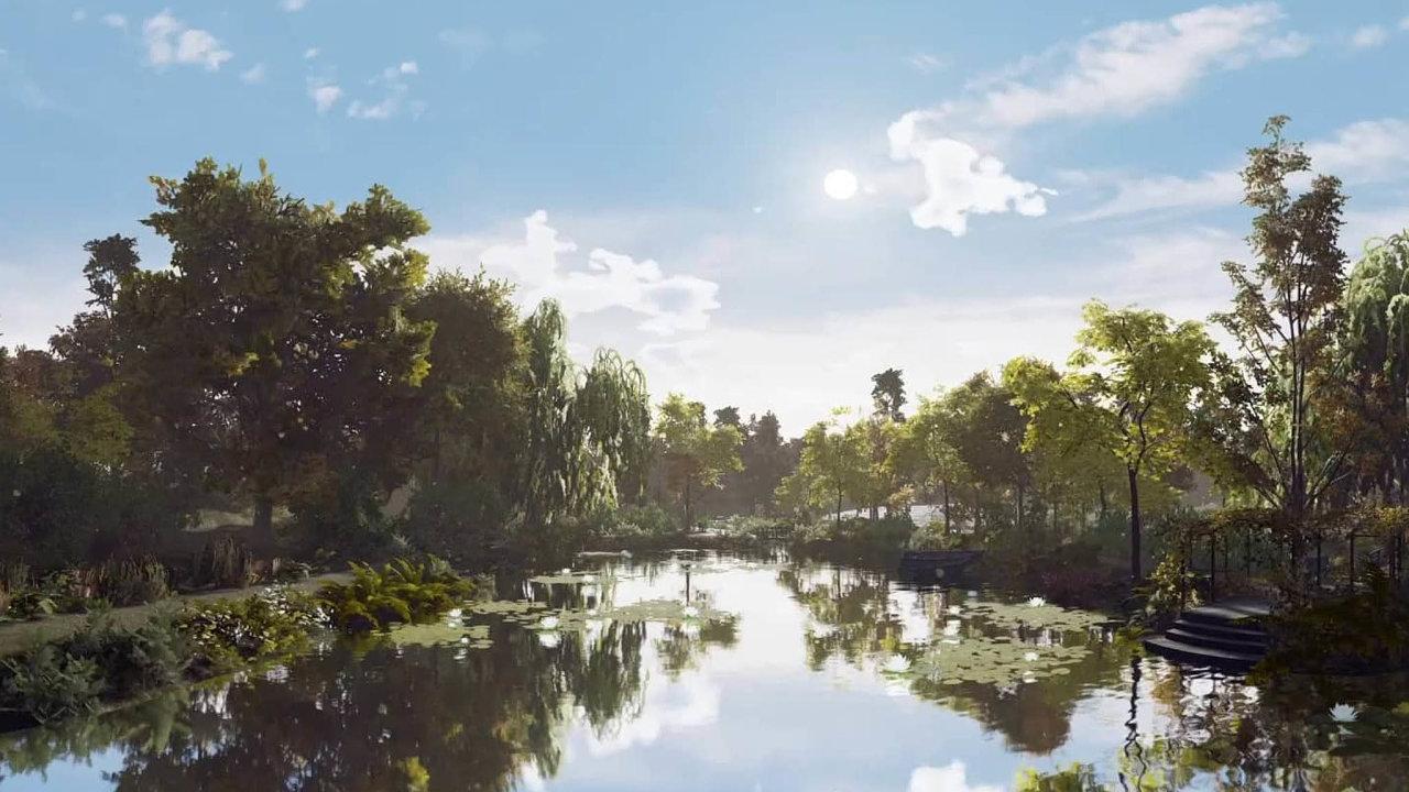 Jeden z virtuálních filmů zve diváky na průzkum slavného obrazu Clauda Moneta Lekníny. Důraz klade na smysly a pocity, ale pátrá také po původu díla, které bylo dlouhá léta skryté před širokou veřejností.