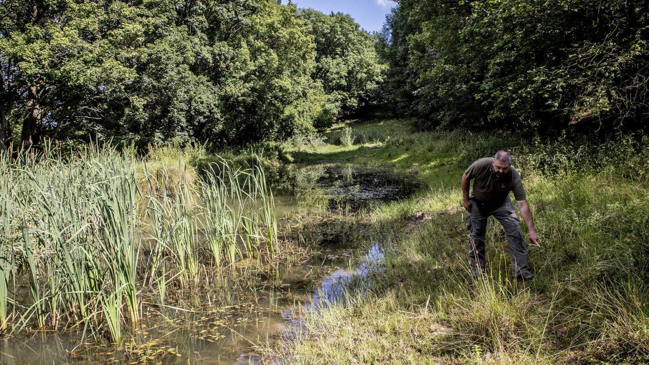 Voda pro pole. Soukromý hospodář odMilešovky Daniel Pitek buduje nasvých pozemcích tůně.