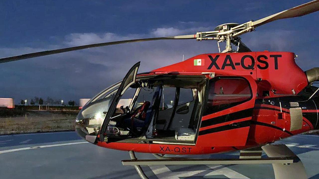 Helikoptéra vezla náklad pro Dachser Mexico