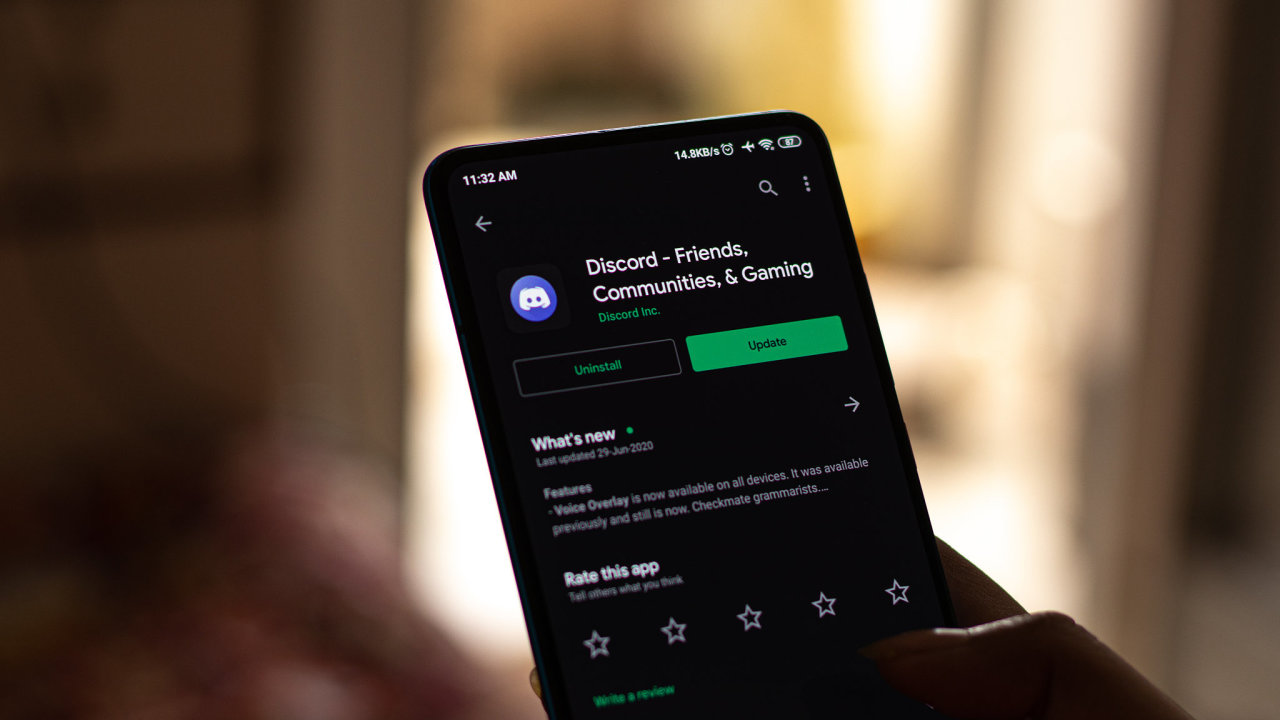Assam, india - July 1, 2020 : Discord app for online talk and video chating.