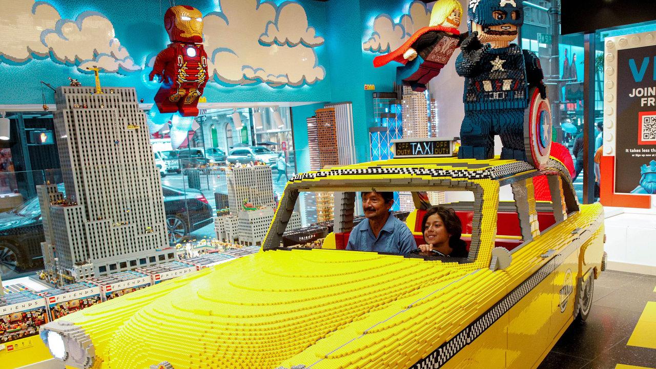 Lego obchod na 5th Avenue v New Yorku