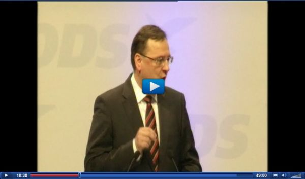 Petre Nečas, videozáznam projevu