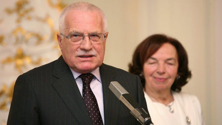Václav Klaus s manželkou Livií