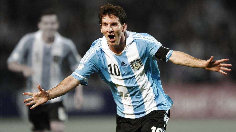 Lionel Messi v dresu reprezentace Argentiny