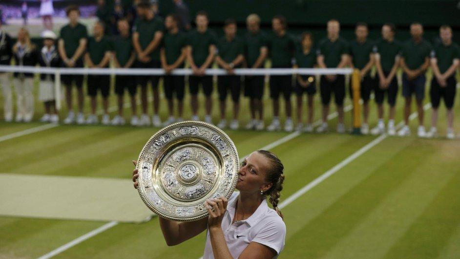 Tenistka Kvitová vyhrála podruhé v kariéře Wimbledon