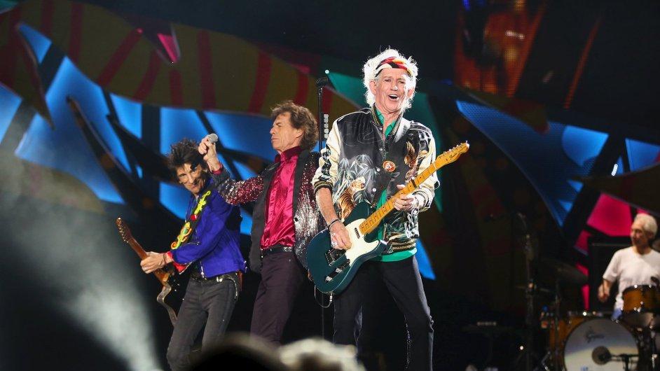 Rocková kapela The Rolling Stones při koncertě v Havaně.