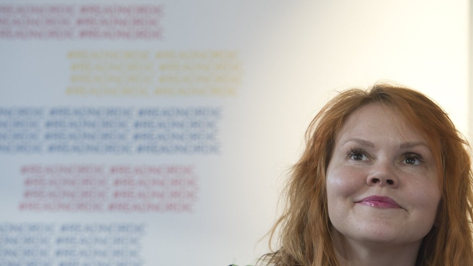 Finská autorka Kattja Kettuová ve čtvrtek na veletrhu Svět knihy besedovala se čtenáři.