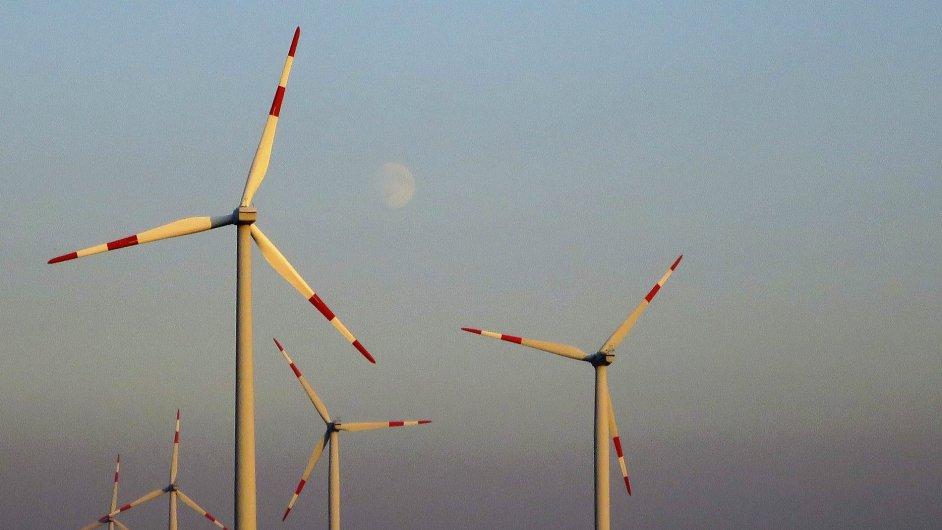 Větrná elektrárna. Ilustrační foto