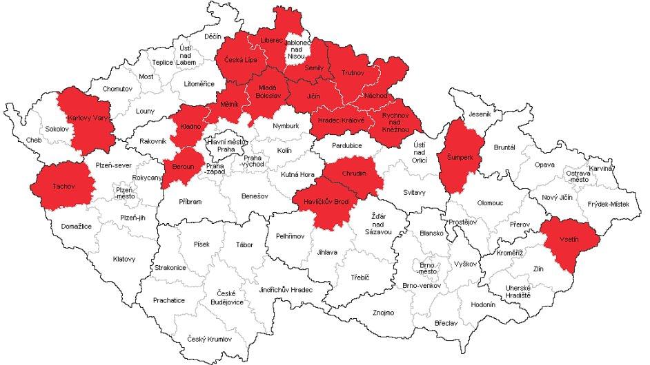 ČEZ vyhlásil kalamitní stav v 18 okresech.