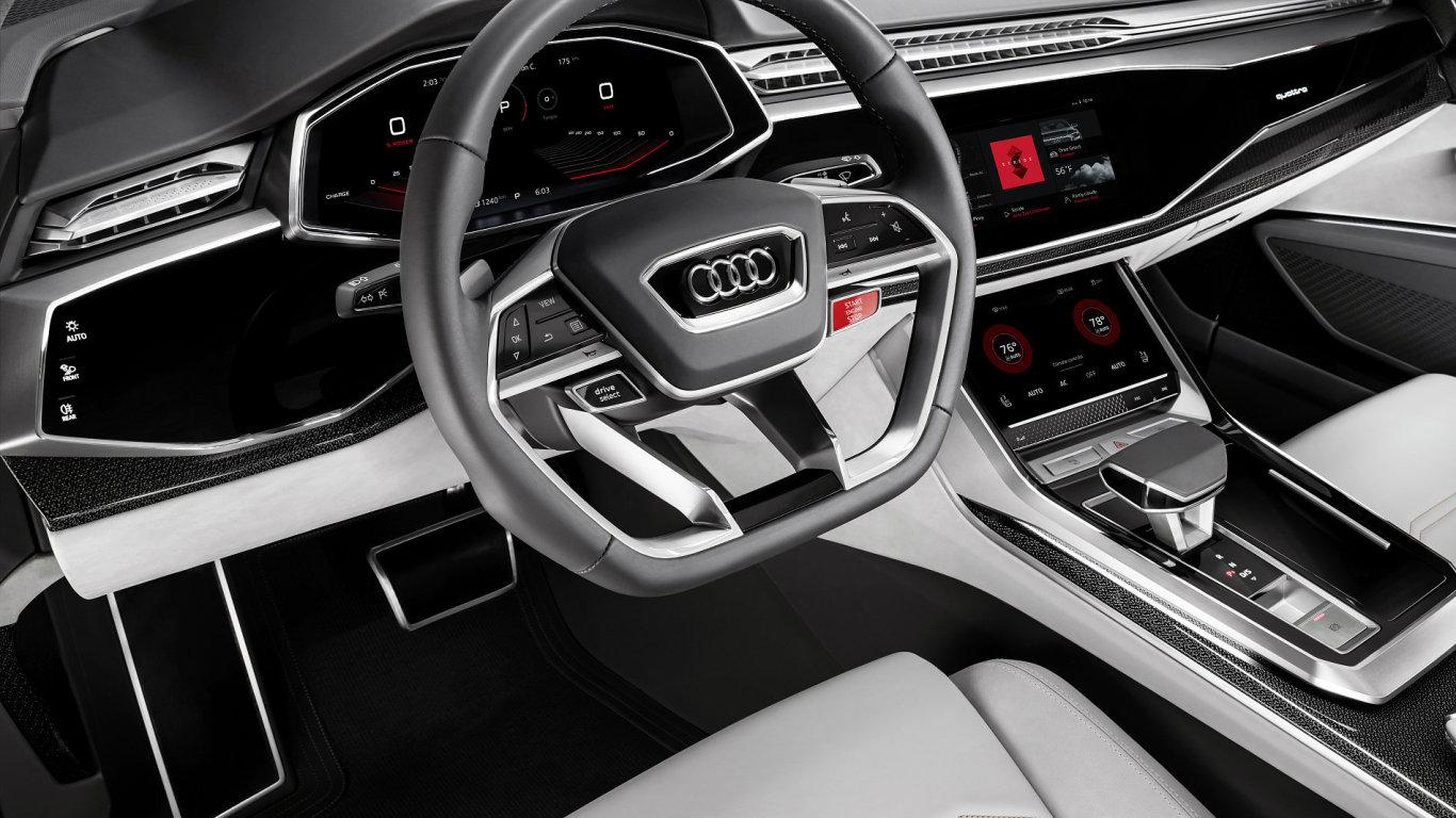 Interiér Audi Q8 se systémem Android.