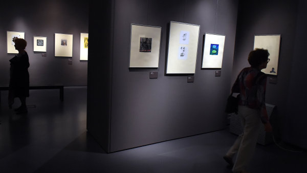 Snímek z bezručovské výstavy v Opavě.