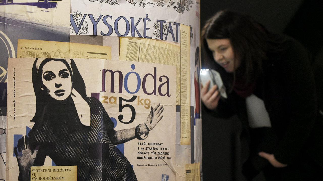 Snímek z nového Muzea českého plakátu.