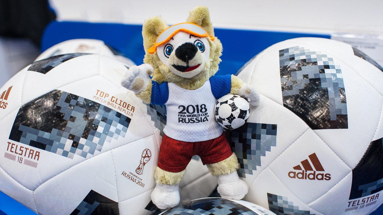 Adidas, Rusko, mistrovství, fotbal, světa, míč, kopaná, plyšák, maskot Putin
