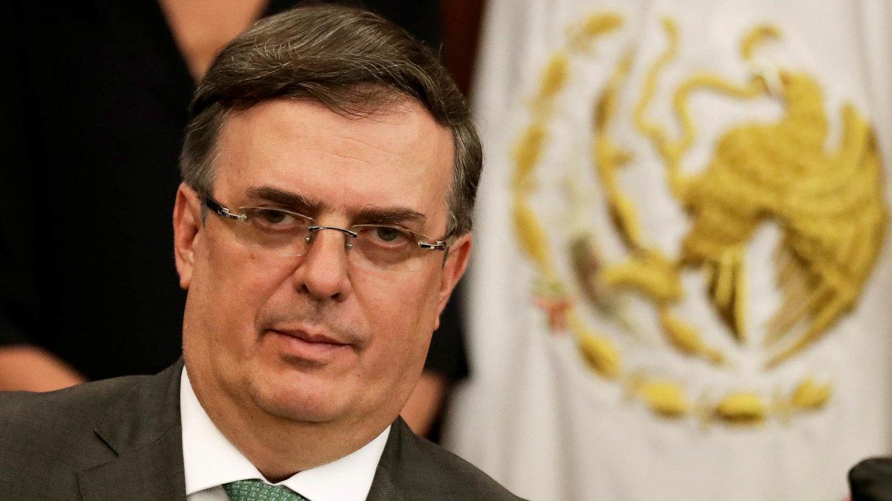 Cla nechceme: Jednání sUSA omigraci aclech má nastarosti mexický ministr zahraničí Marcelo Ebrard.