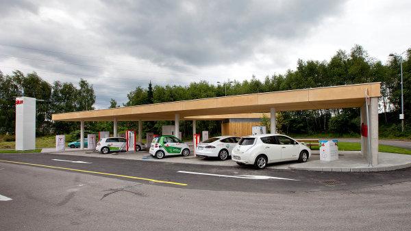 První nabíjecí stanice pro elektromobily značky Tesla byla spuštěna vroce 2016 uHumpolce.