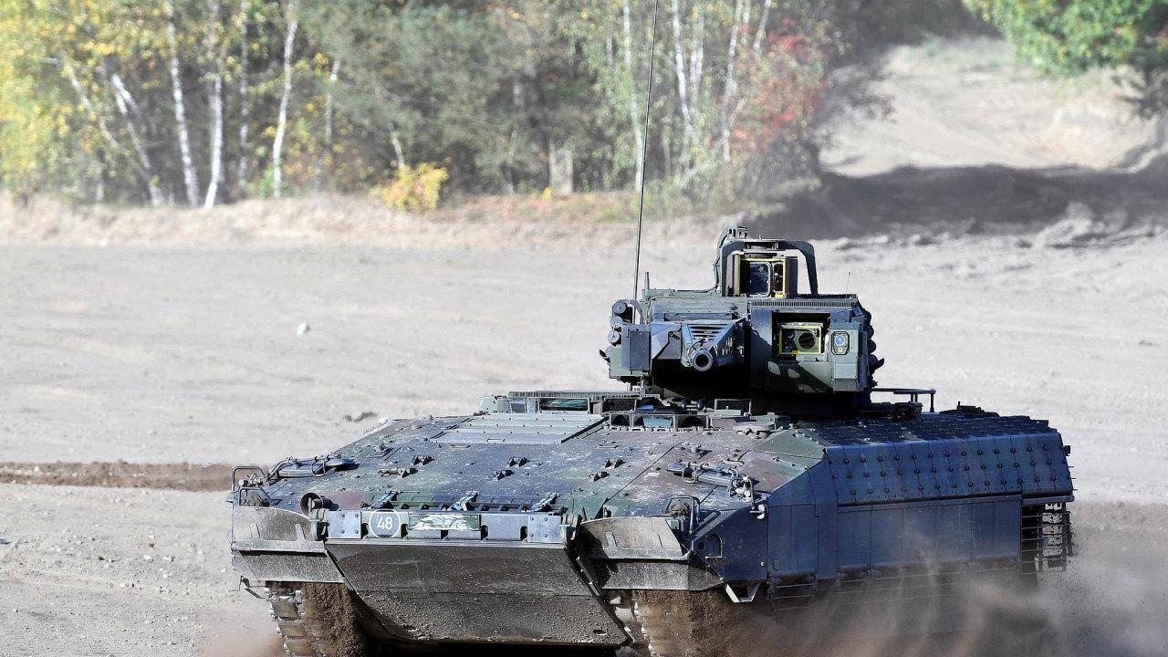 Obrněnec Puma, který odstoupil z výběrového řízení, je součástí německého bundeswehru.