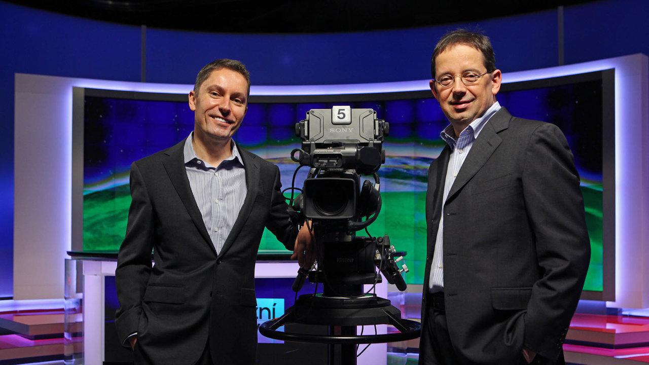 Generální ředitelé společnosti CME Michael Del Nin (vlevo) a Christoph Mainusch stojí za vzestupem, který skupina v poslední době prožívá.