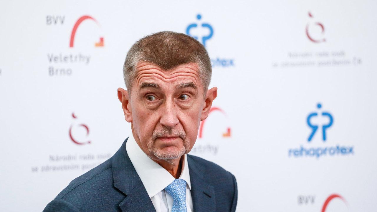 Andrej Babiš, premiér České republiky a předseda hnutí Akce nespokojených občanů 2011 (ANO).