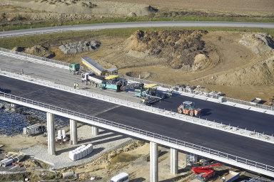 Stavba dálnice D1 mezi Přerovem a Lipníkem nad Bečvou na Olomoucku.