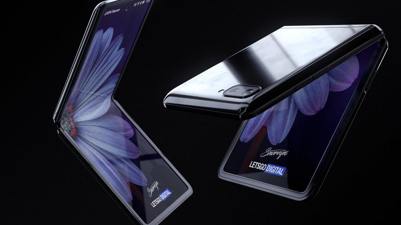 Počítačově vytvořená podoba telefonu Samsung Galaxy Z Flip