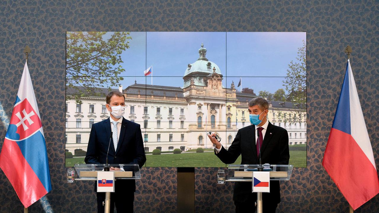 Slovenský premiérIgor Matovič navštívil Prahu a setkal se s předsedou české vlády Andrejem Babišem.