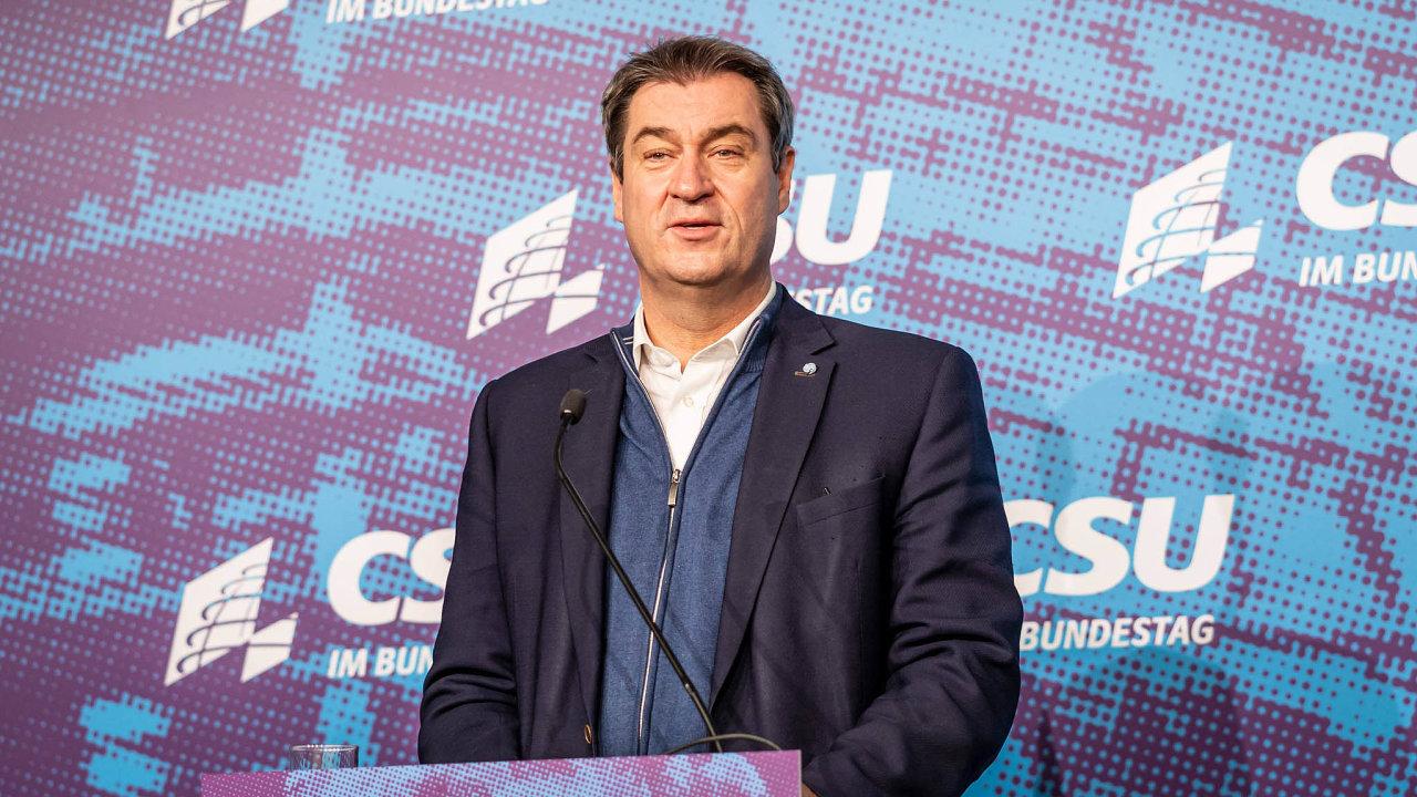 Lídrem spojenectví CDU/CSU by se mohl stát předseda CSU abavorský premiér Markus Söder.