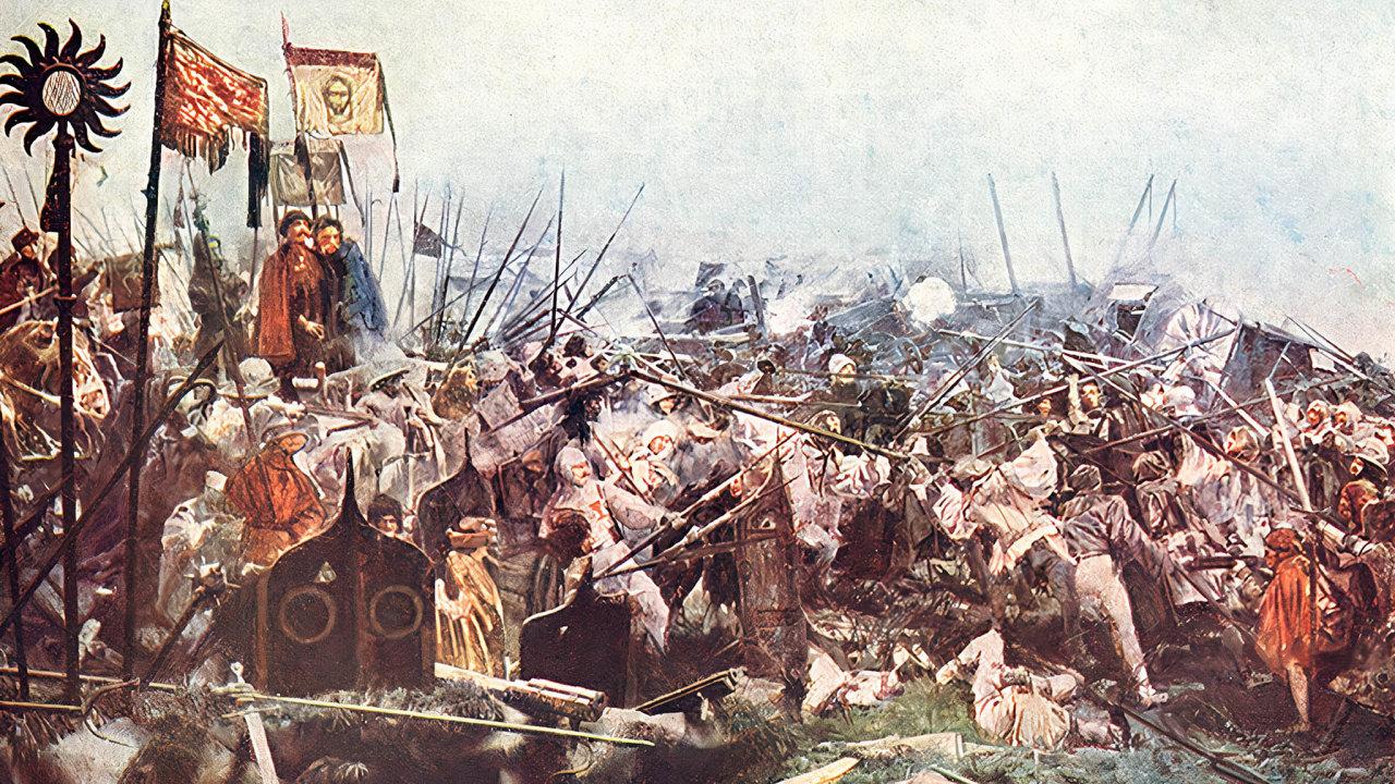 Idealizace. Husité nejen slavně vítězili v poli, ale ve jménu náboženského programu také v Čechách  vyvražďovali celá města, která se k nim nechtěla připojit.