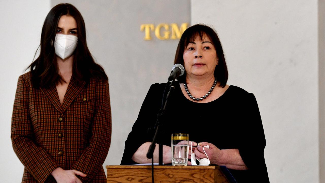 Prezidentova manželka Ivana Zemanová, Miloš Zeman, Kateřina Zemanová