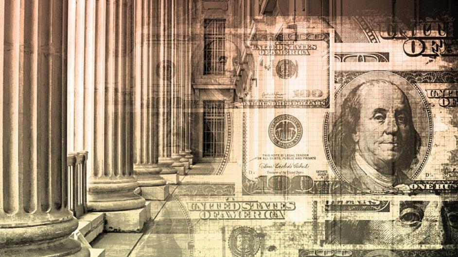 Peníze, dolary, burza, insider trading, ilustrační foto.