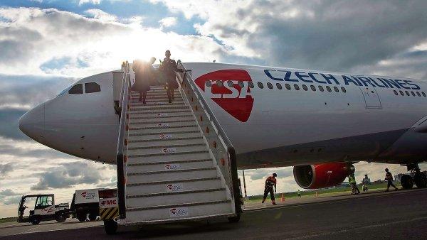 Ztráta českých aerolinií v roce 2014 dosáhla 631 milionů korun. Letos ČSA hlásí návrat k ziskům - Ilustrační foto.