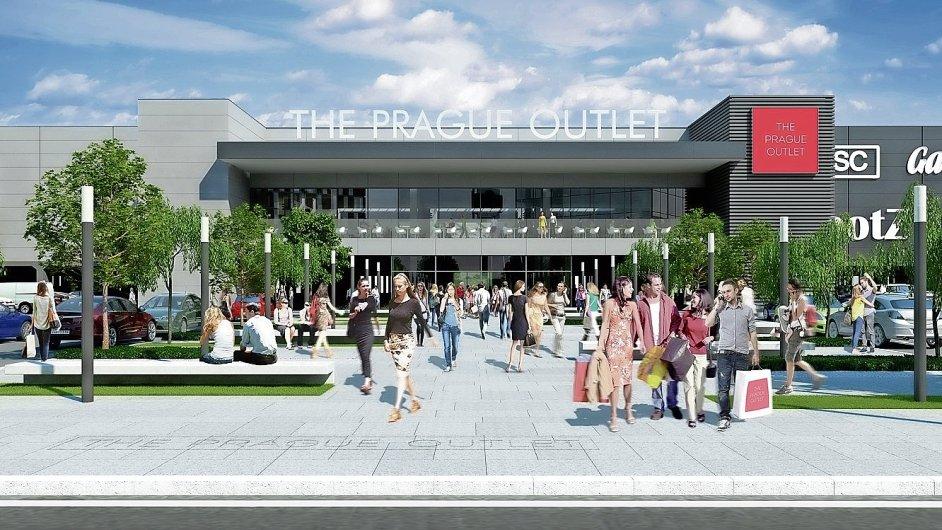 Předpokládaná podoba nového centra The Prague Outlet