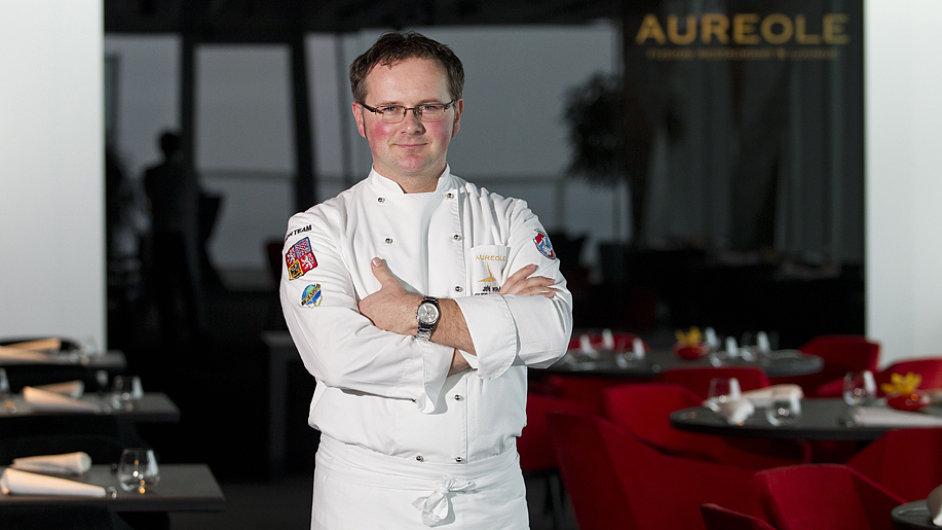 Šéfkuchař restaurace Aureole Jiří Král.