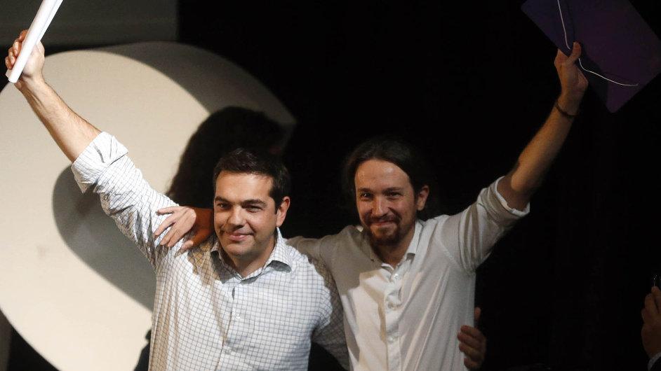 Řecká a španělská levice se přátelí: Alexis Tsipras a Pablo Iglesias se již několikrát setkali a hodlají v budoucnu spolupracovat.