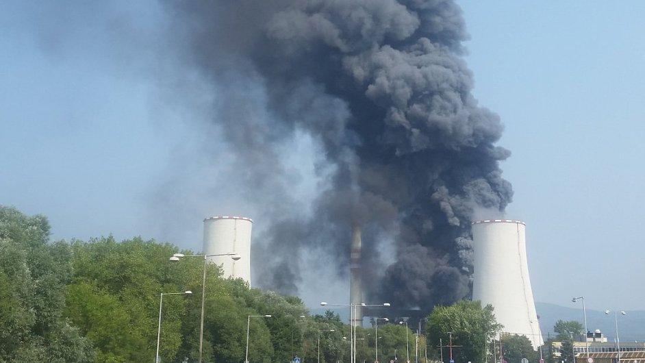 V litvínovské chemičce Unipetrolu 13. srpna vypukl požár.