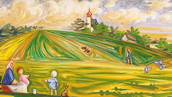 Obraz Josefa �apka nazvan� V �ervnu (Kraj) se prodal za 14,1 milionu korun bez auk�n� p�ir�ky.