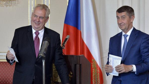 Andrej Babiš se ve čtvrtek setkal na Pražském hradě s Milošem Zemanem - Ilustrační foto.