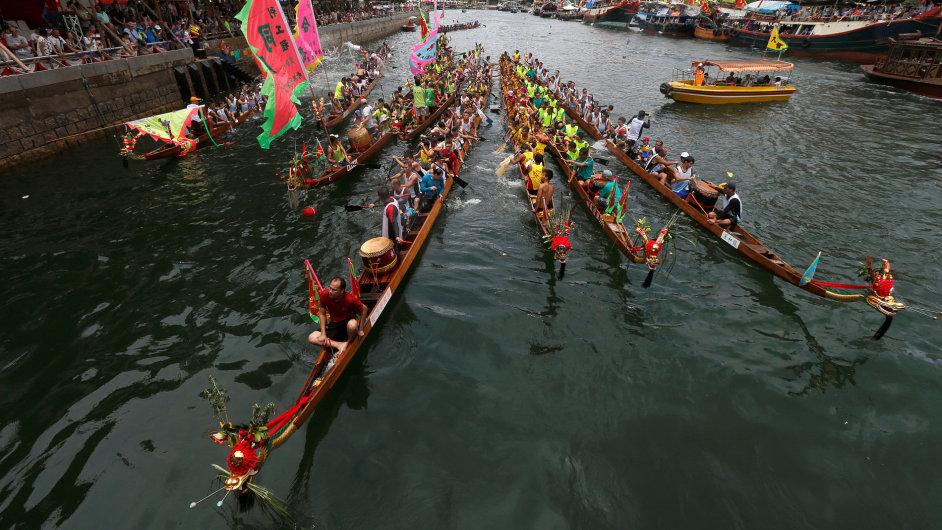 Festival v Hongkongu, dračí lodě