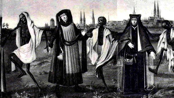 Nasnímku je dnes již neexistující vlys tance smrti zchrámu vněmeckém Lübecku, podle nějž Thomas Ades složil kompozici Totentanz.