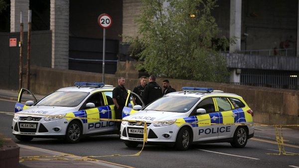 Policie v Manchesteru.