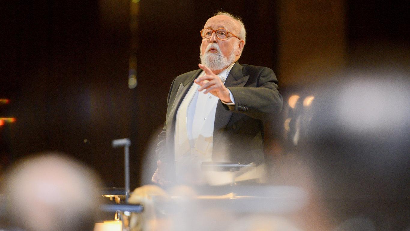 Svoji skladbu Sedm bran jeruzalémských vedl přímo sám třiaosmdesátiletý Krzysztof Penderecki.